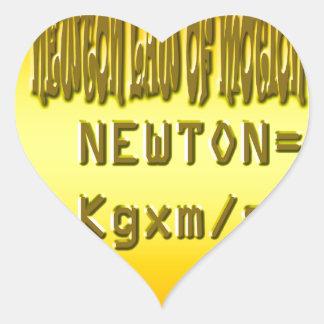 Fresh newton law of motion heart sticker