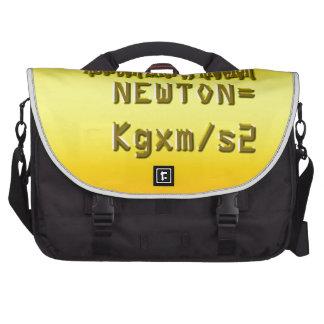 Fresh newton law of motion laptop messenger bag