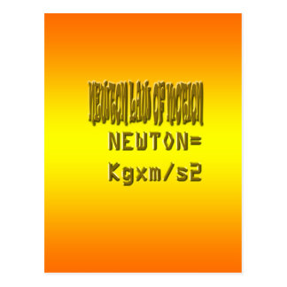 Fresh newton law of motion postcard