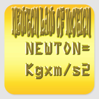 Fresh newton law of motion square sticker