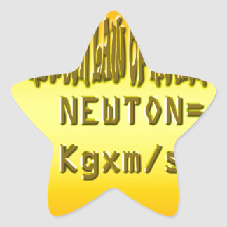 Fresh newton law of motion star sticker
