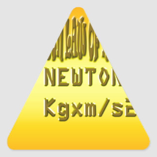 Fresh newton law of motion triangle sticker