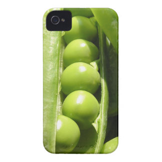 Fresh open green pea pods in sunlight iPhone 4 Case-Mate case