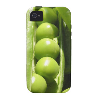 Fresh open green pea pods in sunlight iPhone 4/4S covers