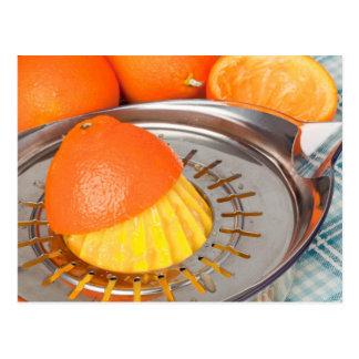 Fresh orange juice postcard