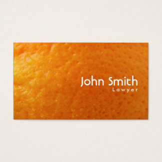 Fresh Orange Texture Lawyer Business Card