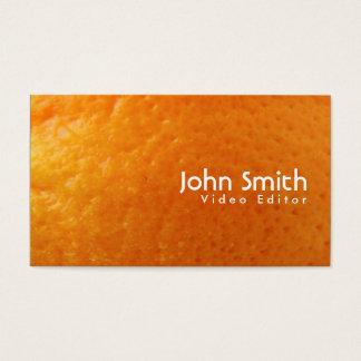 Fresh Orange Video Editor Business Card