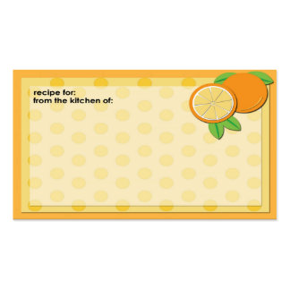Fresh oranges business size recipe cards Double-Sided standard business cards (Pack of 100)