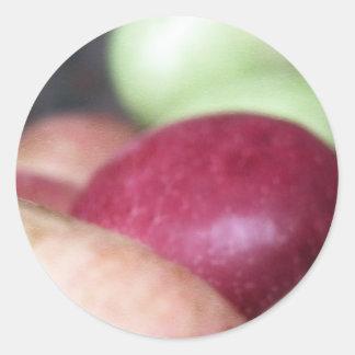 Fresh Organic Apples Classic Round Sticker