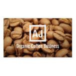 Fresh Organic Coffee Beans Modern Business Card