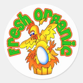Fresh Organic Eggs Classic Round Sticker
