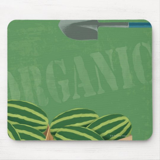Fresh Organic Melons Mouse Pad