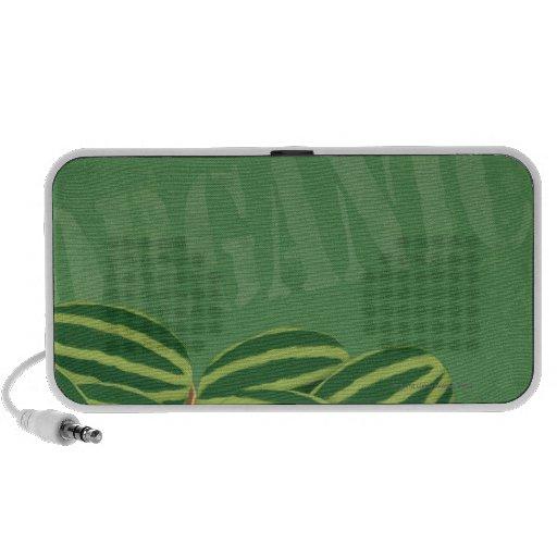 Fresh Organic Melons iPhone Speakers