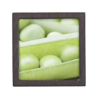 Fresh organic peas keepsake box