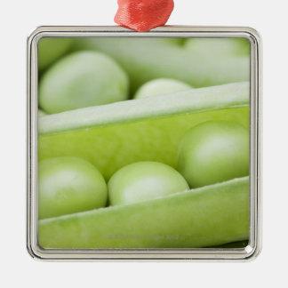 Fresh organic peas metal ornament