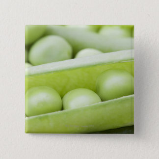 Fresh organic peas pinback button