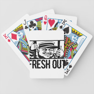 Fresh Out Bicycle Playing Cards