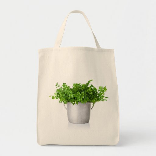 Fresh Parsley Bouque Grocery Tote Bag