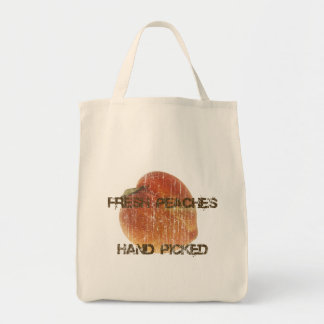 Fresh Peaches Grocery Tote Bag