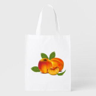 Fresh Peaches Grocery Bag Grocery Bag
