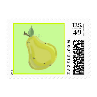 Fresh Pear Postage Stamps