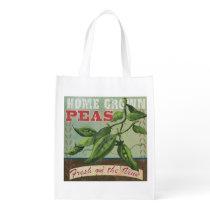 Fresh Peas Vintage Reusable Bag