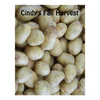 Fresh Picked White Potatoes Scrapbooking Paper