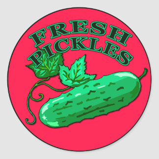 Fresh Pickles Label for Homemade Pickles Classic Round Sticker