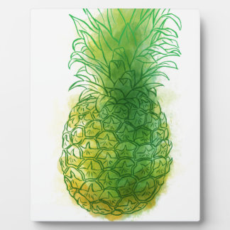 Fresh pineapple plaque
