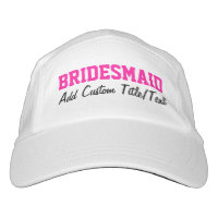 Fresh Pink Personalized Bridesmaid Hat