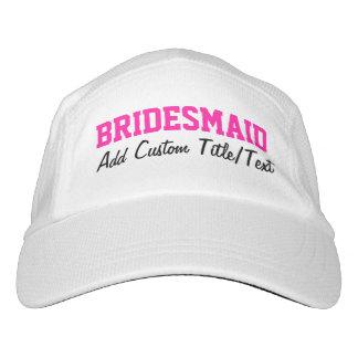 Fresh Pink Personalized Bridesmaid Hat Headsweats Hat
