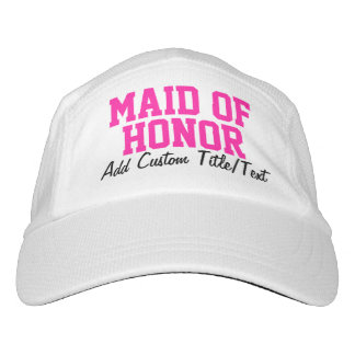 Fresh Pink Personalized Maid of Honor Hat
