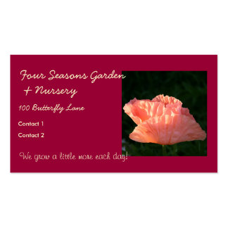 Fresh Pink Poppy Business Card Templates