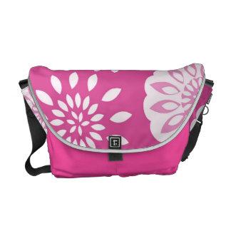 Fresh Pink Splash Blossom Botanical Commuter Bag