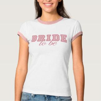 Fresh Pink Varsity Bride-To-Be Design T-Shirt