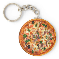 Fresh Pizza Theme Keychain