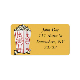 Fresh Popcorn Address Label