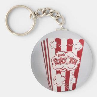 Fresh Popcorn Bag red Vintage Keychain
