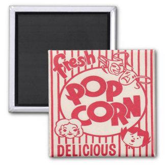 Fresh Popcorn! 2 Inch Square Magnet