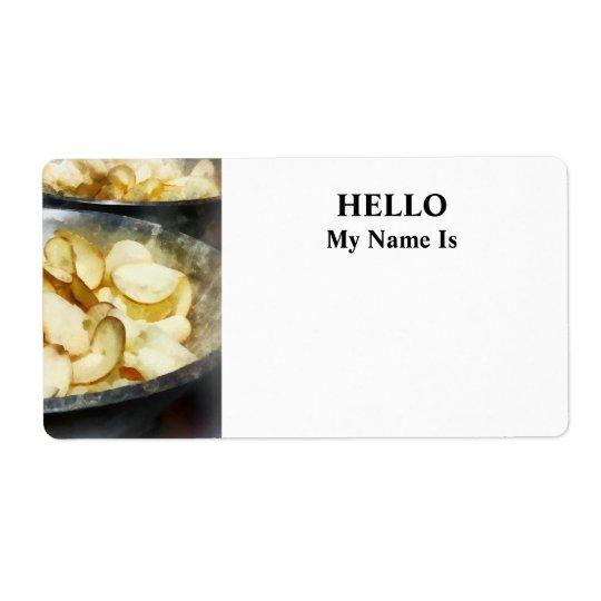Fresh Potato Chips Label