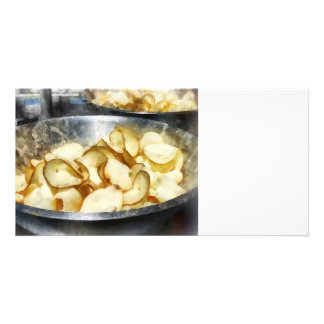 Fresh Potato Chips Photo Card Template
