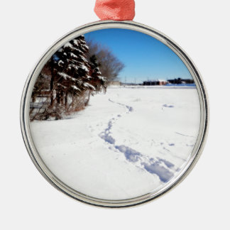 Fresh Print On Kent's Pond Metal Ornament
