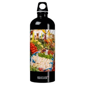 Fresh Produce at Farmers Market Aluminum Water Bottle