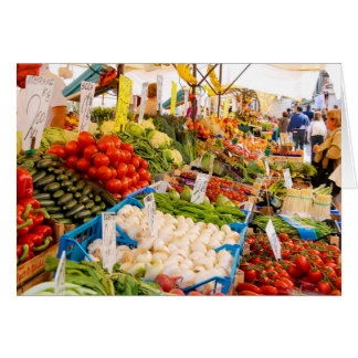 Fresh Produce at Farmers Market Stationery Note Card