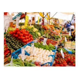 Fresh Produce at Farmers Market Postcard