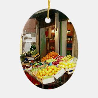 Fresh Produce Ceramic Ornament