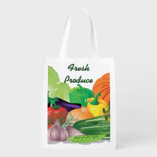 Fresh Produce Design Reusable Tote Market Totes