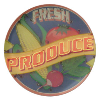 Fresh Produce Dinner Plate
