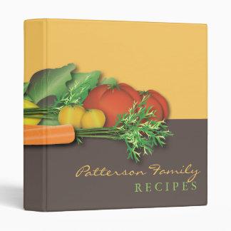 Fresh Produce Family Recipe Cookbook Binder