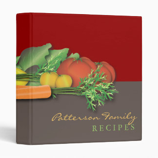 Fresh Produce Family Recipe Cookbook Binder